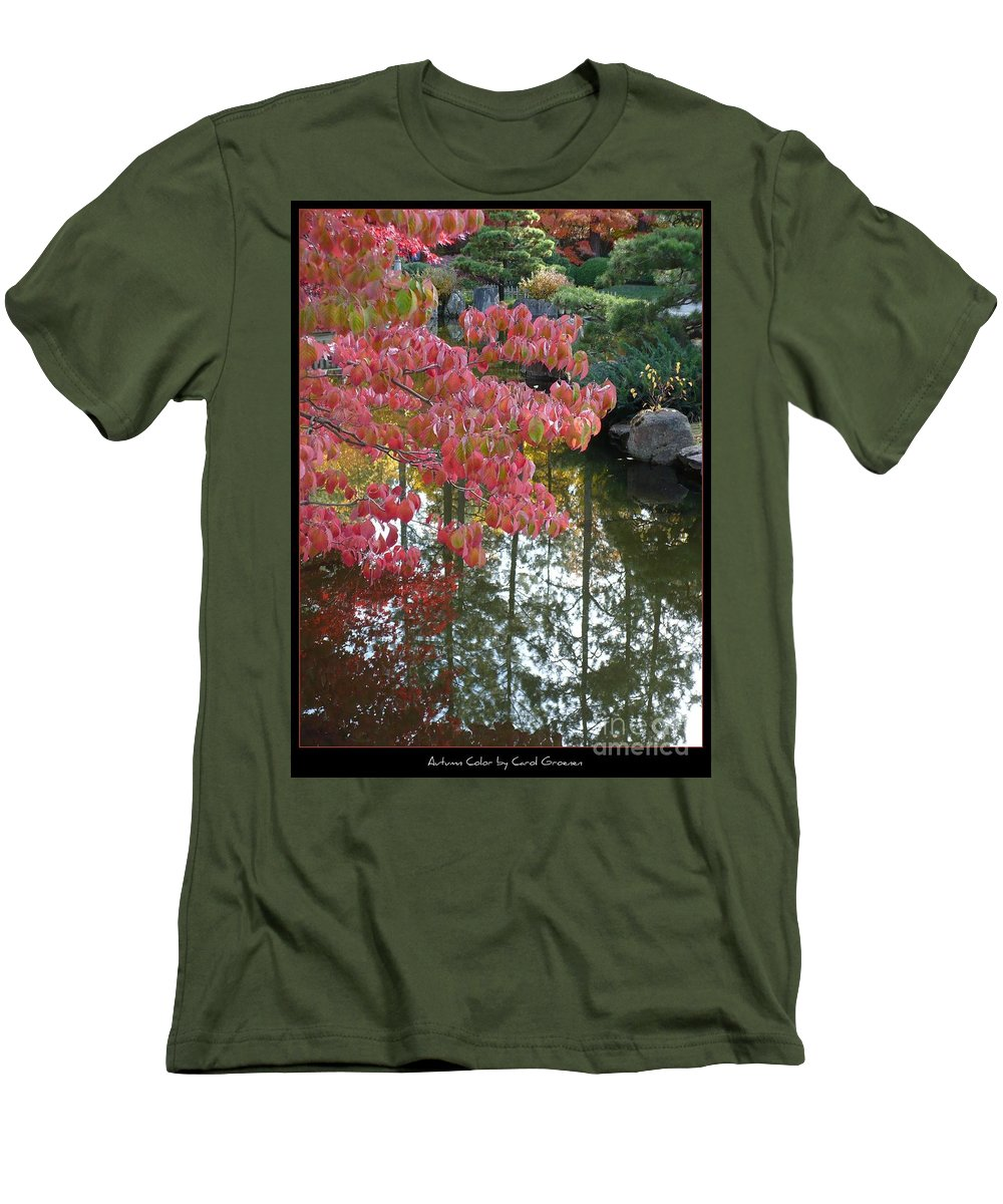 Colorful Men's T-Shirt (Athletic Fit) featuring the photograph Autumn Color Poster by Carol Groenen