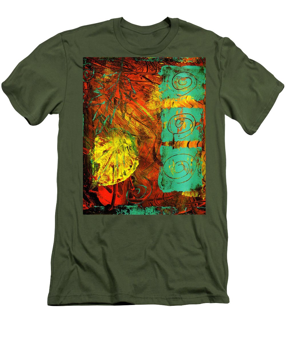 Autumn Men's T-Shirt (Athletic Fit) featuring the painting Autumn by Wayne Potrafka
