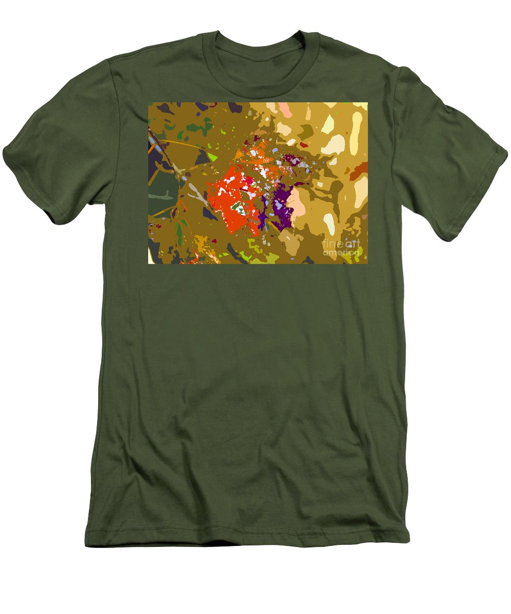 Autumn Men's T-Shirt (Athletic Fit) featuring the photograph Autumns Leaf by David Lee Thompson