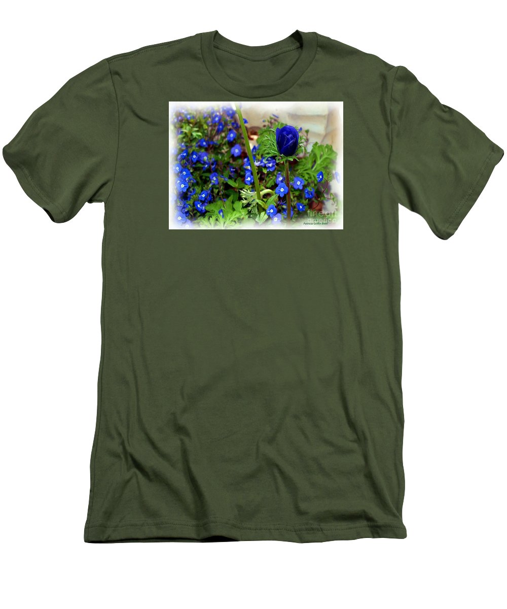 Fine Art Men's T-Shirt (Athletic Fit) featuring the painting Babys Got The Blues by Patricia Griffin Brett