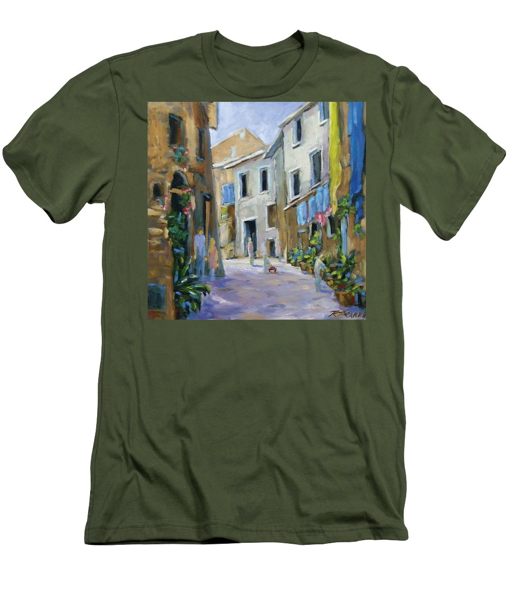 Urban Men's T-Shirt (Athletic Fit) featuring the painting Back Street by Richard T Pranke