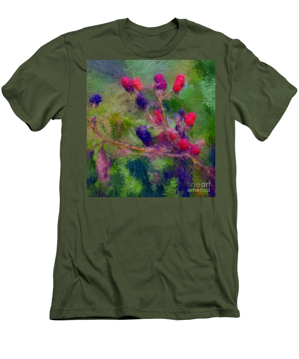 Nature Men's T-Shirt (Athletic Fit) featuring the photograph Bear Fodder by David Lane