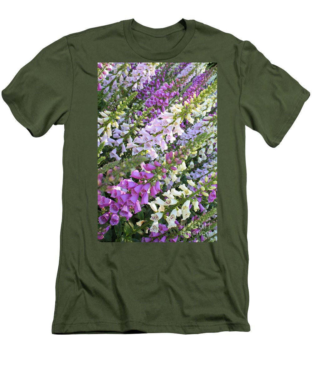 Foxglove Men's T-Shirt (Athletic Fit) featuring the photograph Beautiful Foxglove by Carol Groenen
