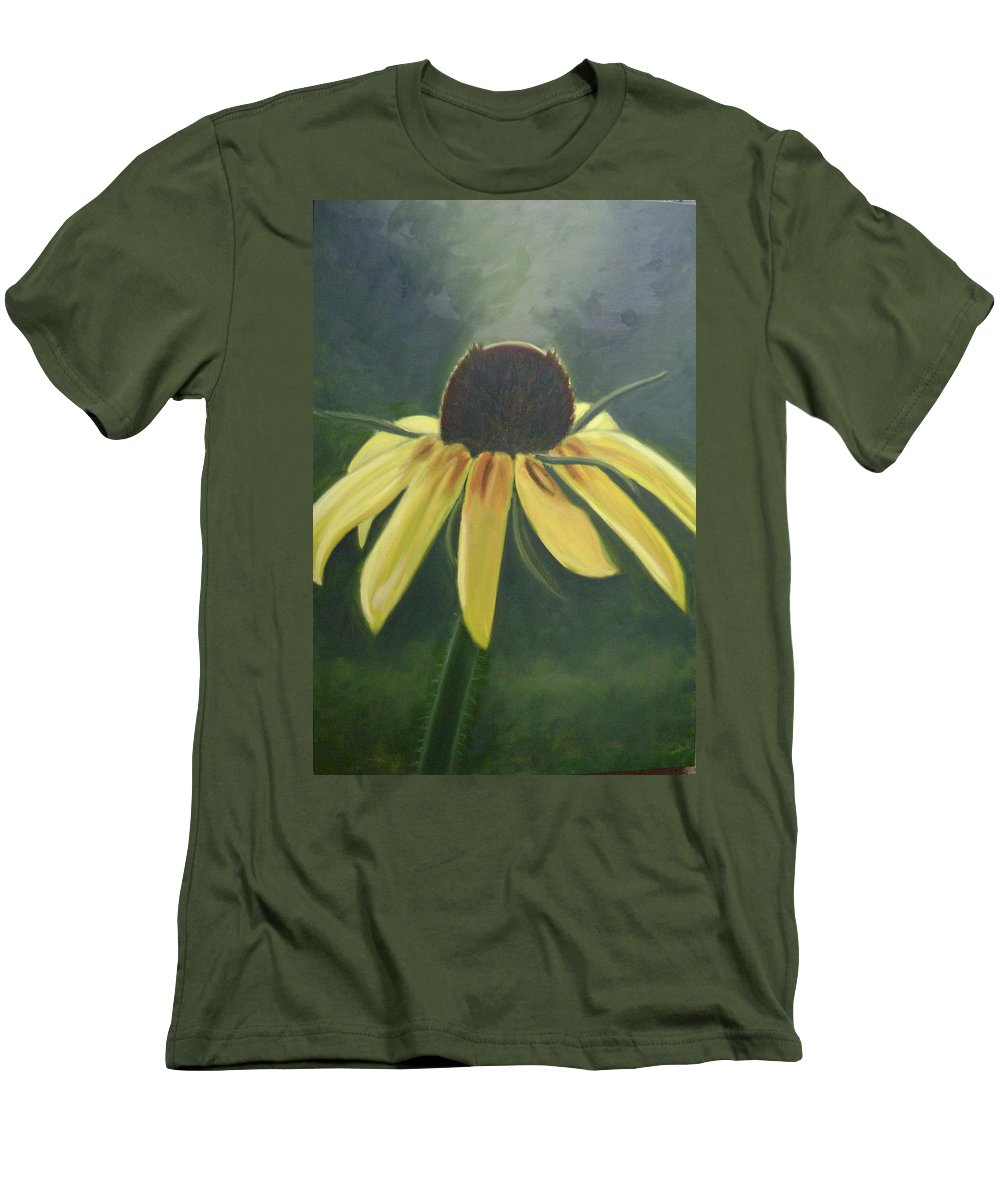 Flower Men's T-Shirt (Athletic Fit) featuring the painting Black Eyed Susan by Toni Berry