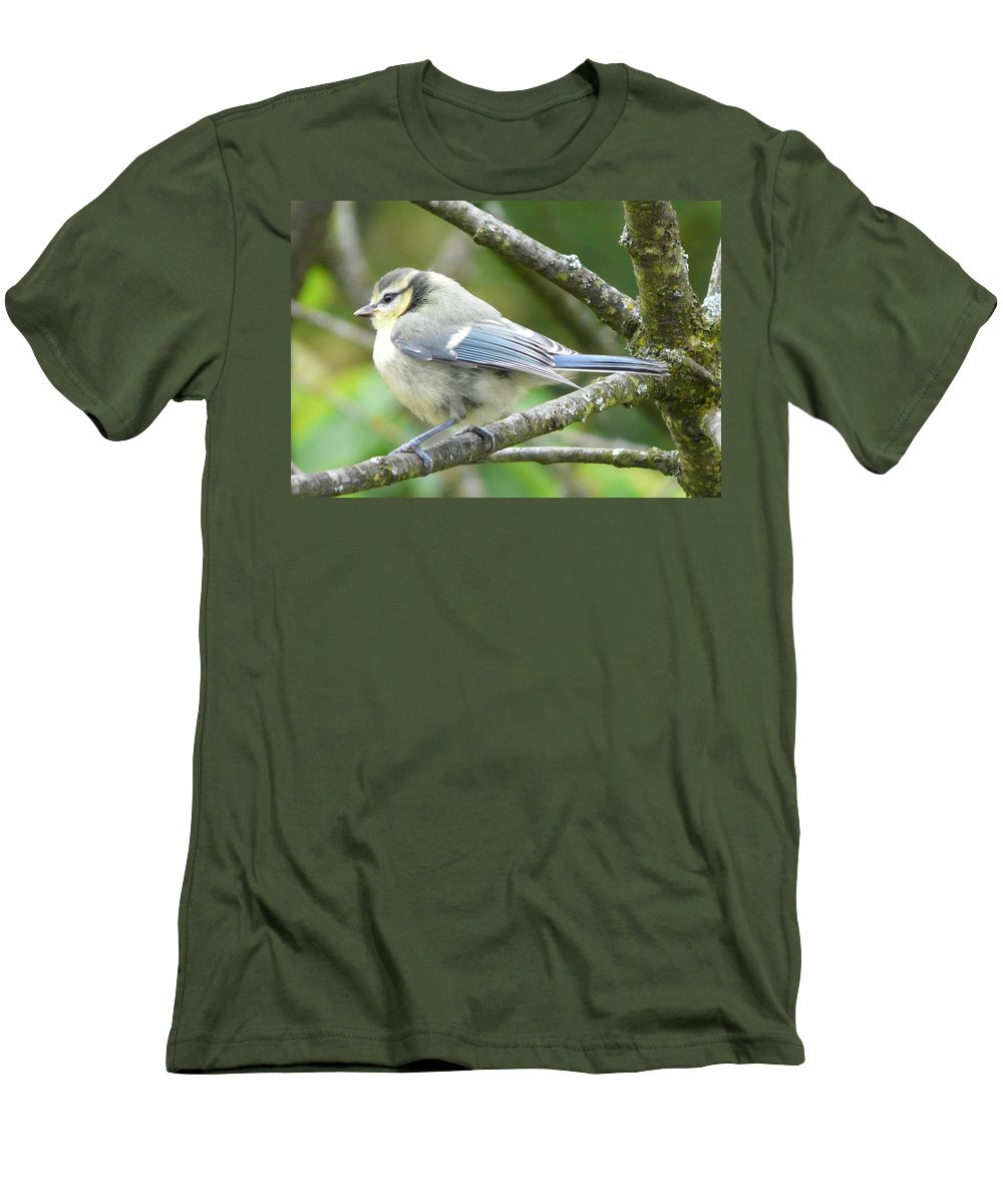 Bird Men's T-Shirt (Athletic Fit) featuring the photograph Blue Tit by Valerie Ornstein