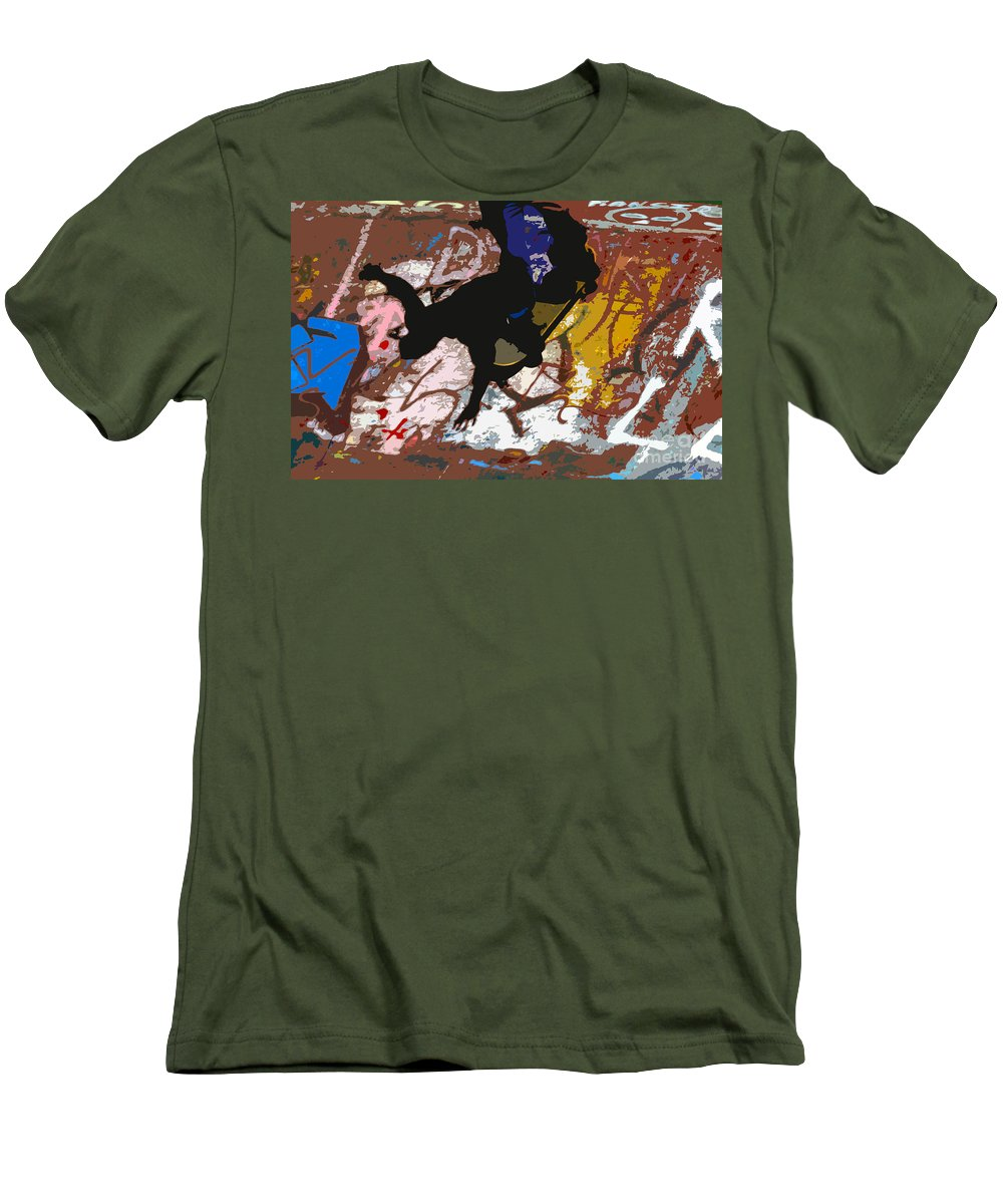 Skate Board Men's T-Shirt (Athletic Fit) featuring the photograph Boarding High by David Lee Thompson