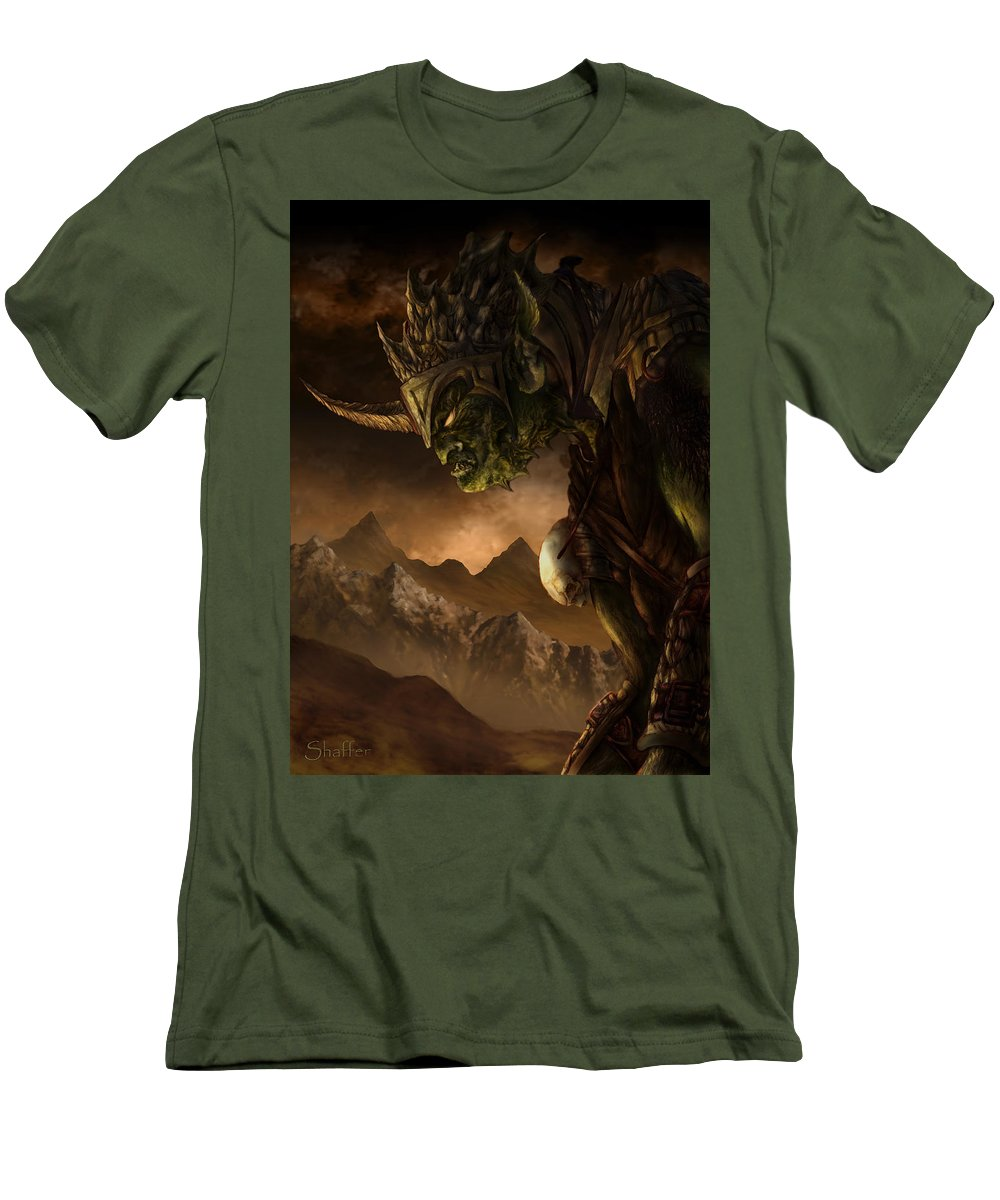 Goblin Men's T-Shirt (Athletic Fit) featuring the mixed media Bolg The Goblin King by Curtiss Shaffer