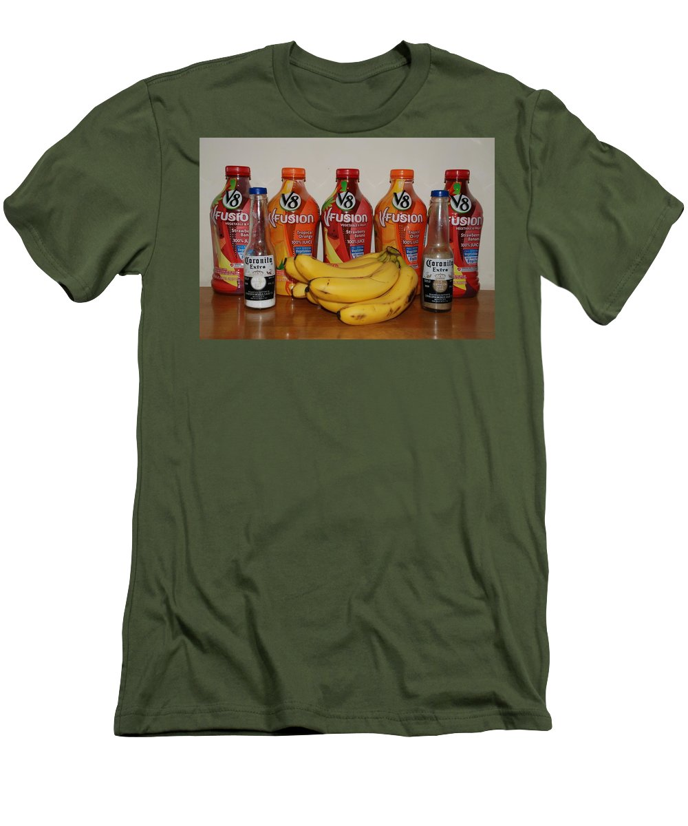 V8 Men's T-Shirt (Athletic Fit) featuring the photograph Bottles N Bananas by Rob Hans