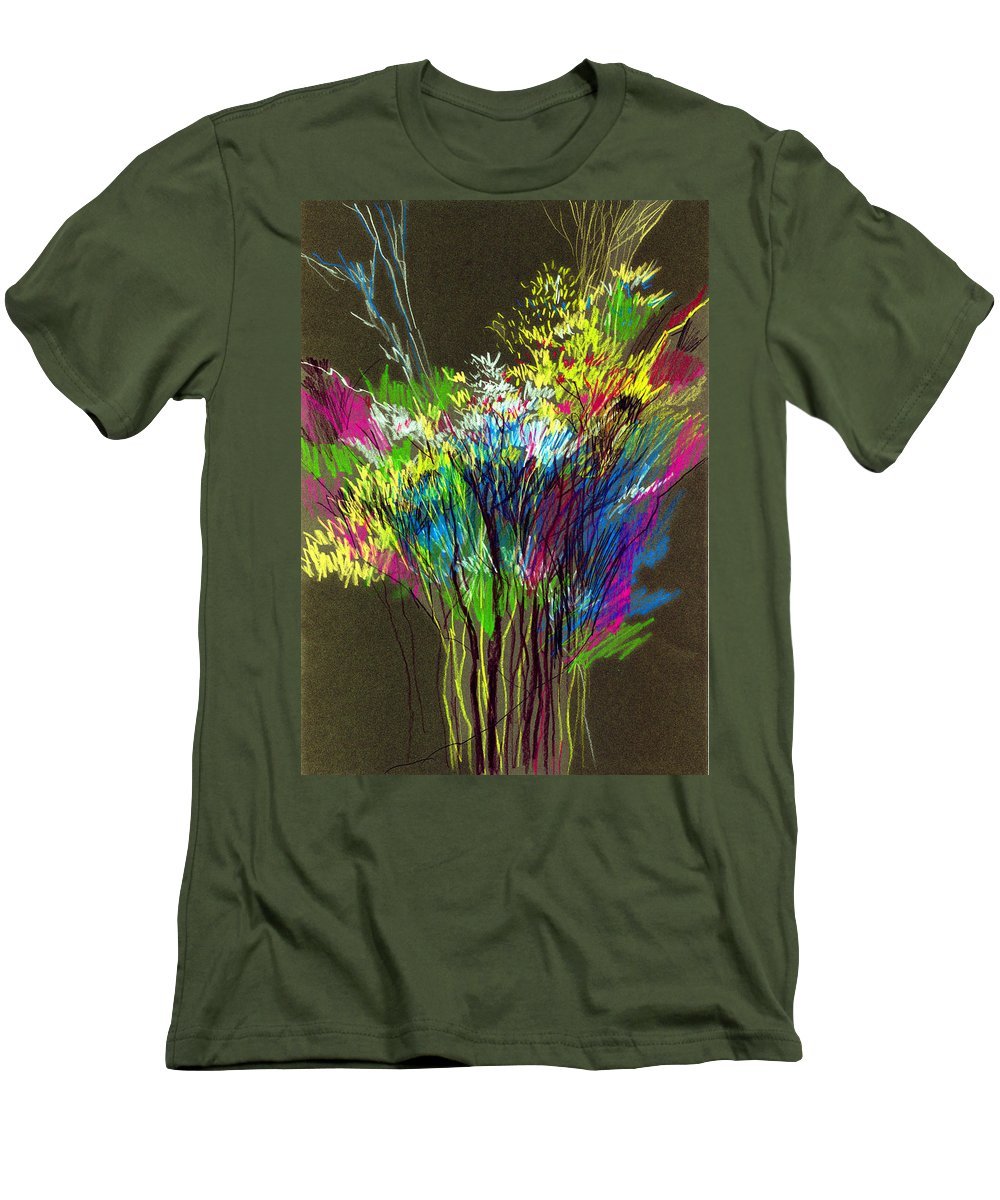 Flowers Men's T-Shirt (Athletic Fit) featuring the painting Bouquet by Anil Nene