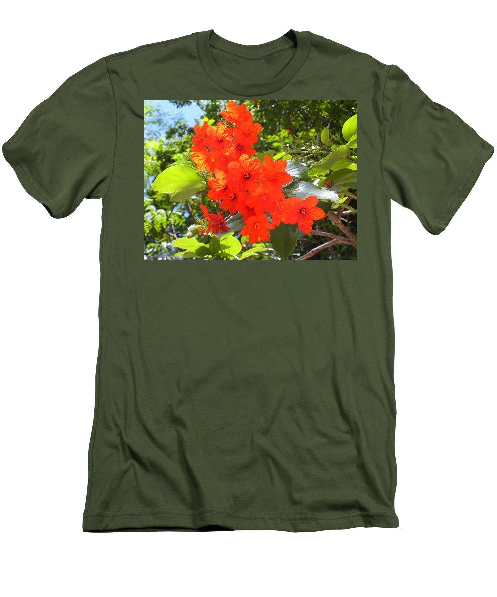 Flowers Men's T-Shirt (Athletic Fit) featuring the photograph Brilliant Blossoms by Maria Bonnier-Perez