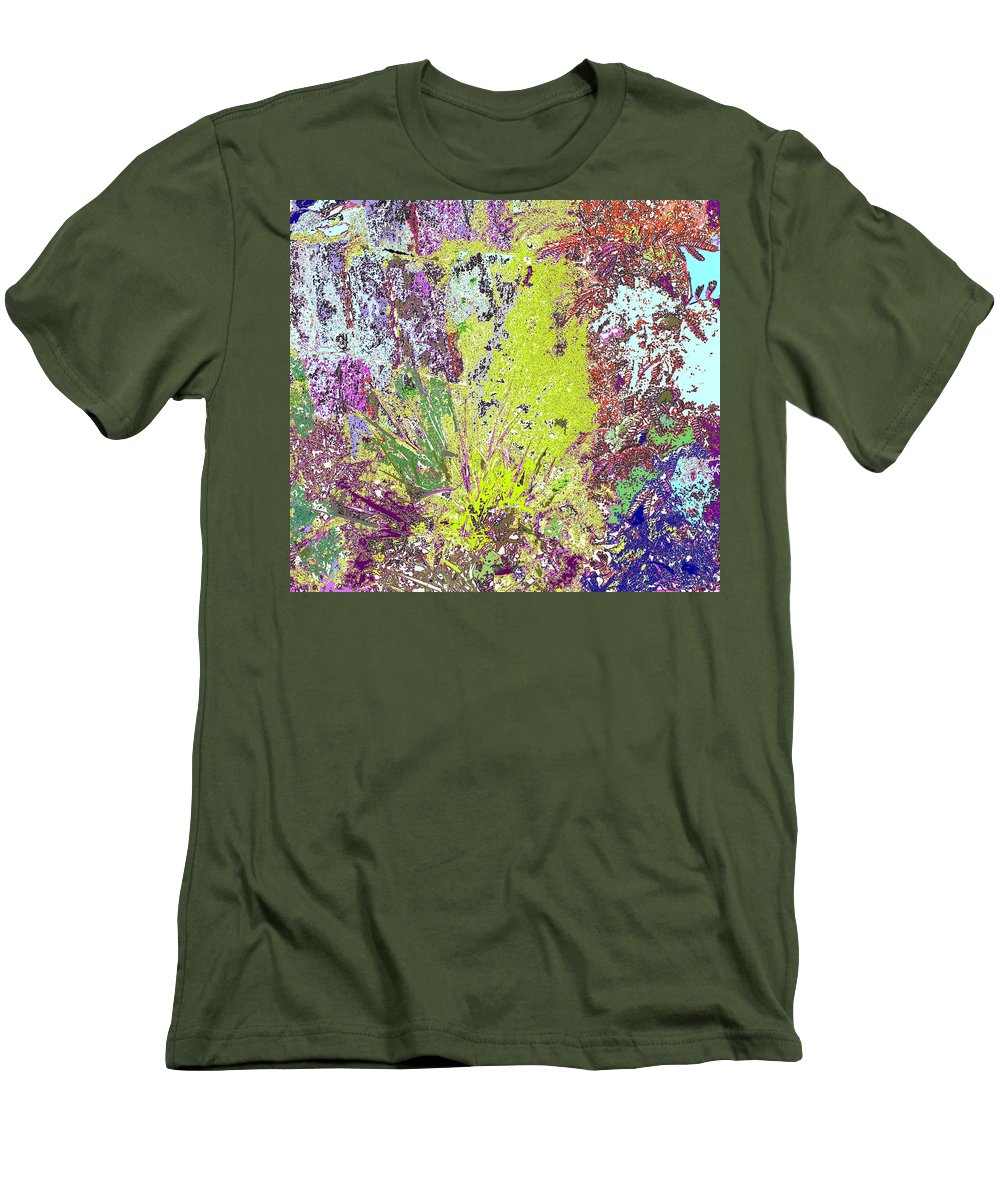 Abstract Men's T-Shirt (Athletic Fit) featuring the photograph Brimstone Fantasy by Ian MacDonald