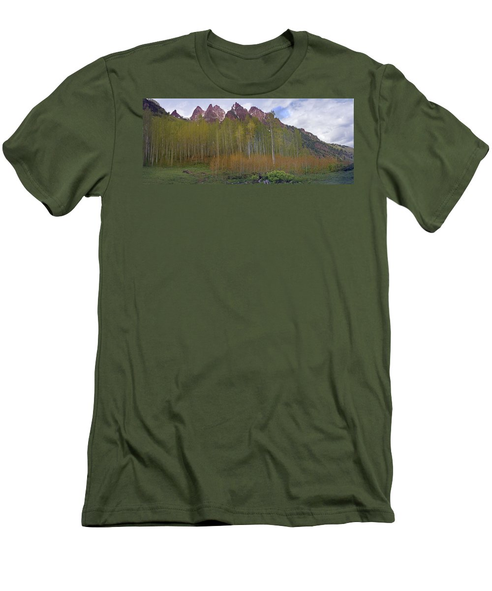 Mountain Men's T-Shirt (Athletic Fit) featuring the photograph Buckskin Mtn And Friends by Heather Coen
