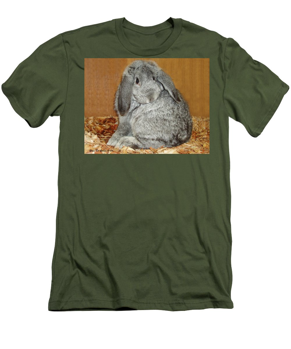 Bunny Men's T-Shirt (Athletic Fit) featuring the photograph Bunny by Gina De Gorna