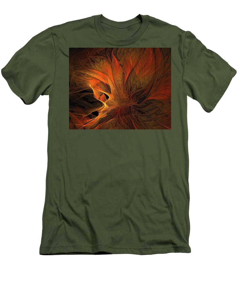 Digital Art Men's T-Shirt (Athletic Fit) featuring the digital art Burn by Amanda Moore