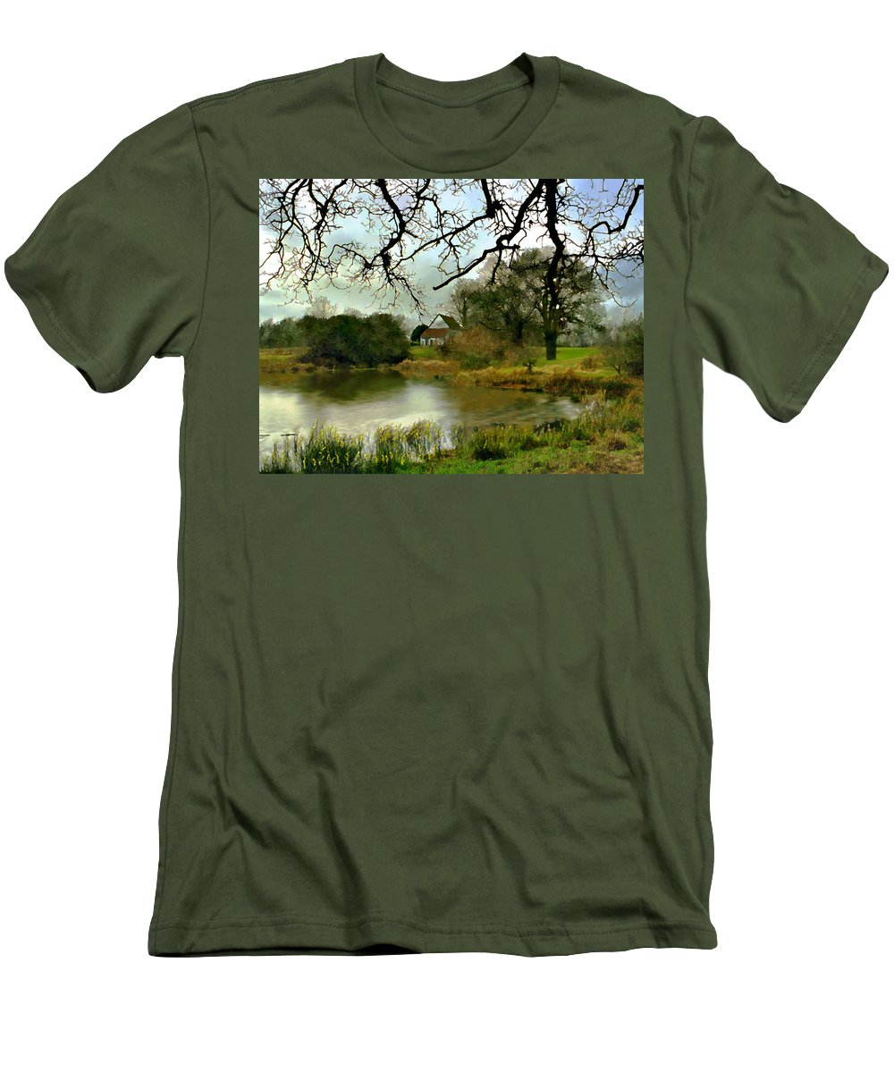 England Men's T-Shirt (Athletic Fit) featuring the photograph Butlers Retreat Epping Forest Uk by Kurt Van Wagner