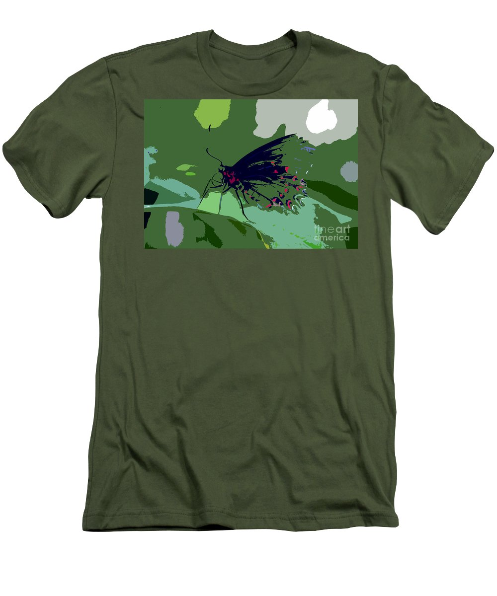 Butterfly Men's T-Shirt (Athletic Fit) featuring the photograph Butterfly Work Number Ten by David Lee Thompson