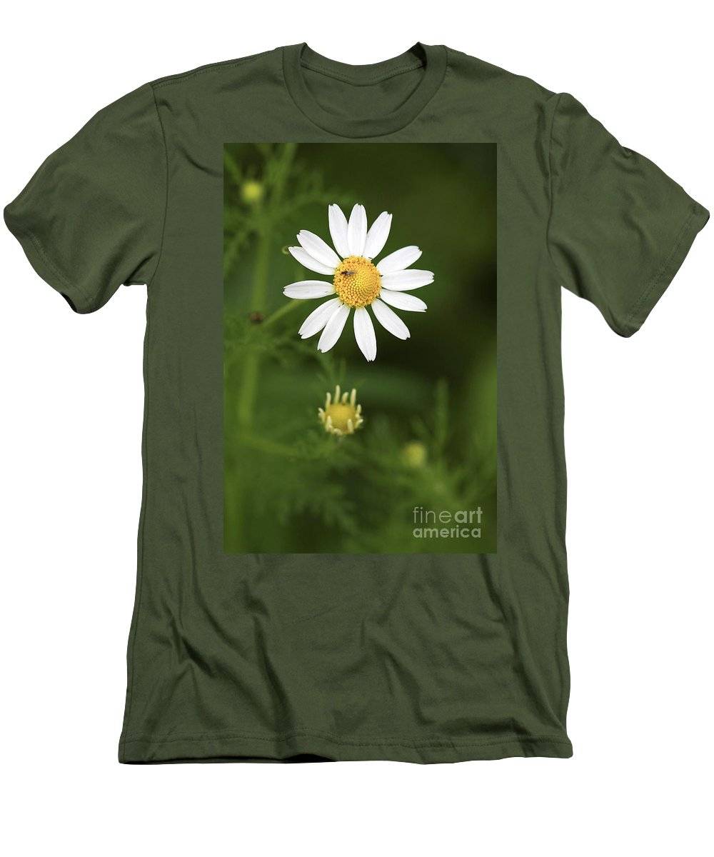 Flower Men's T-Shirt (Athletic Fit) featuring the photograph By The Pond by Deborah Benoit