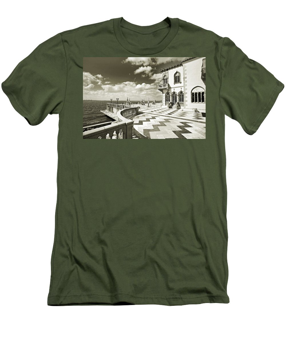 Ringling Men's T-Shirt (Athletic Fit) featuring the photograph Ca D'zan Mansion by Mal Bray