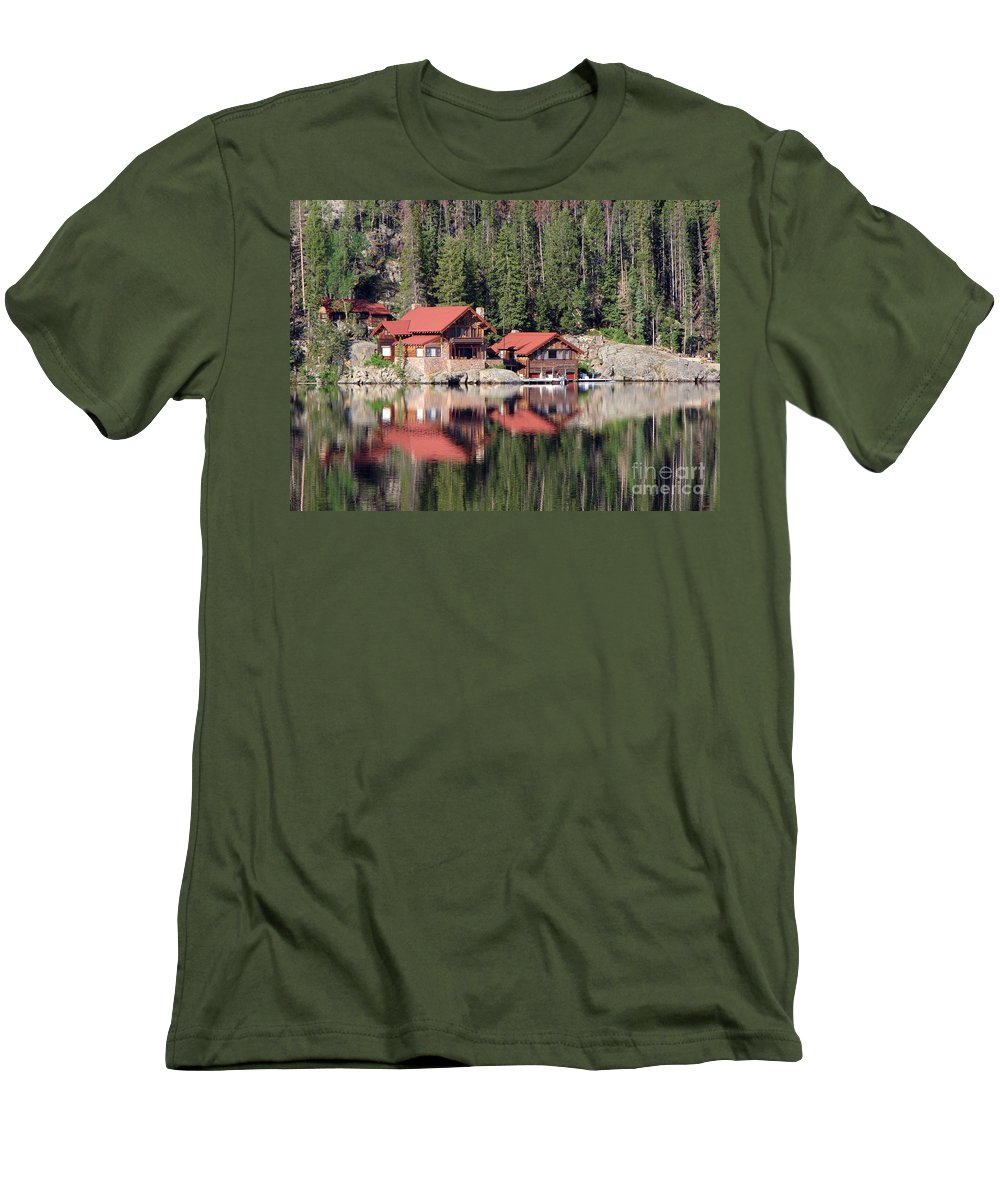 Cabin Men's T-Shirt (Athletic Fit) featuring the photograph Cabin by Amanda Barcon