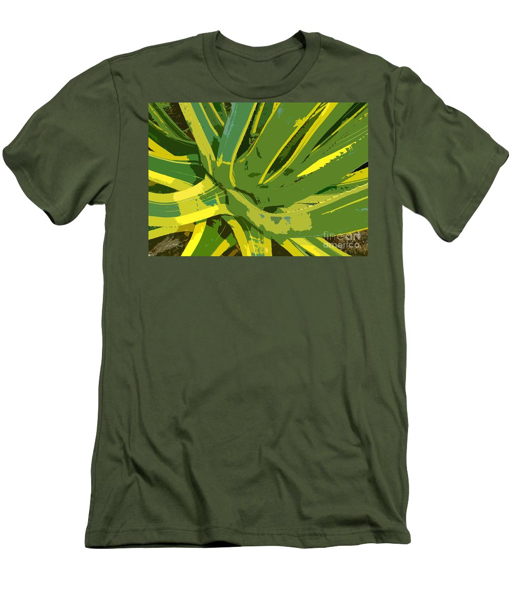 Cactus Men's T-Shirt (Athletic Fit) featuring the photograph Cactus Work Number 2 by David Lee Thompson