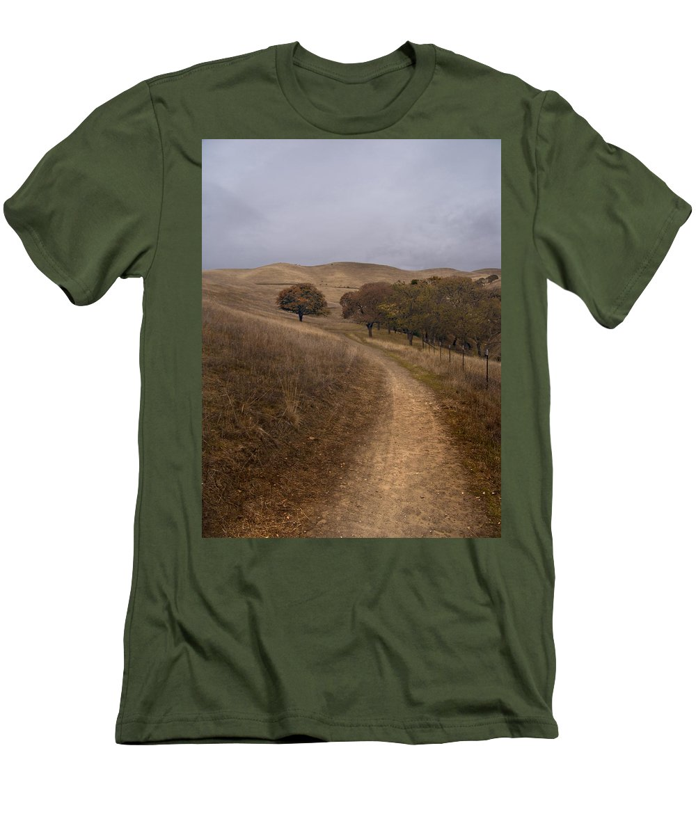 Landscape Men's T-Shirt (Athletic Fit) featuring the photograph California Winter by Karen W Meyer