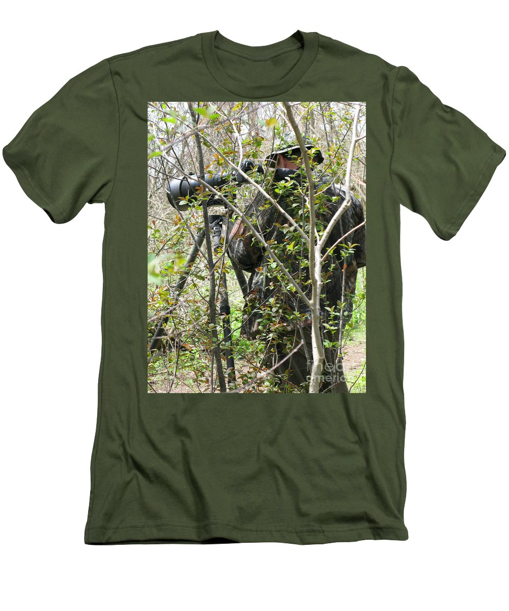 Photographer Men's T-Shirt (Athletic Fit) featuring the photograph Camouflage by Ann Horn