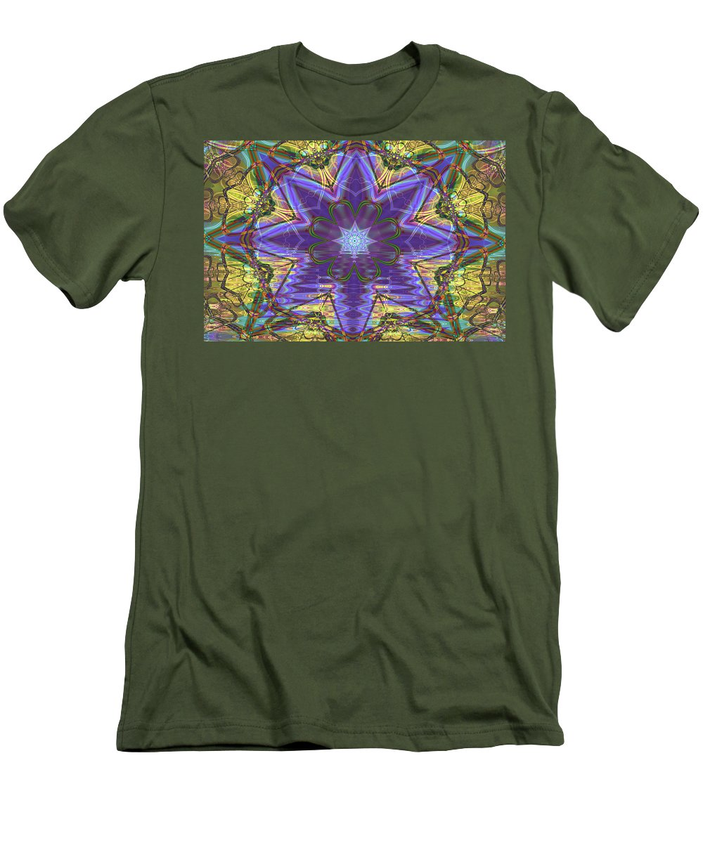 Abstract Men's T-Shirt (Athletic Fit) featuring the digital art Celtic Knot by Frederic Durville