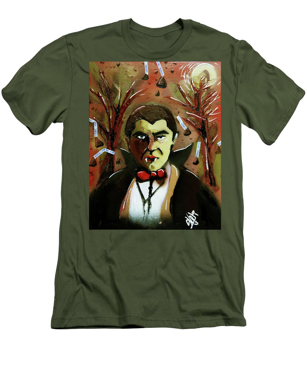 Count Chocula Men's T-Shirt (Athletic Fit) featuring the painting Cereal Killers - Count Chocula by eVol i