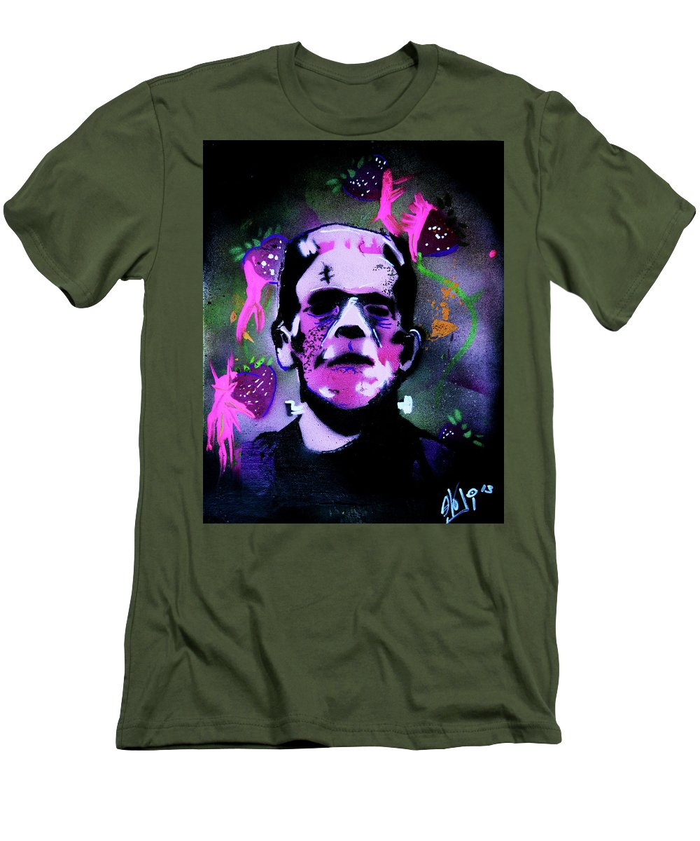 Cereal Killers Men's T-Shirt (Athletic Fit) featuring the painting Cereal Killers - Frankenberry by eVol i