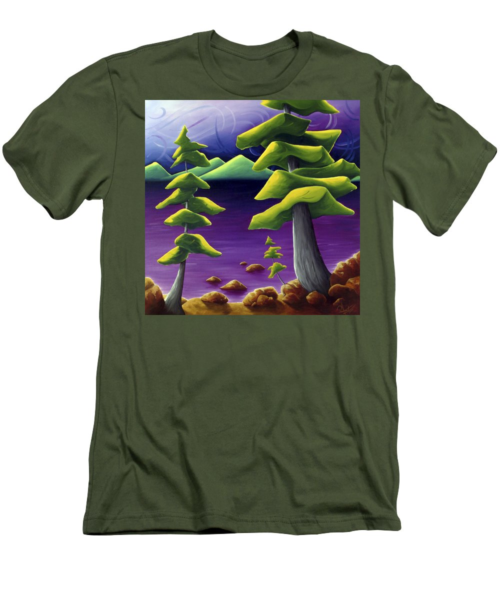 Landscape Men's T-Shirt (Athletic Fit) featuring the painting Change Of Pace by Richard Hoedl
