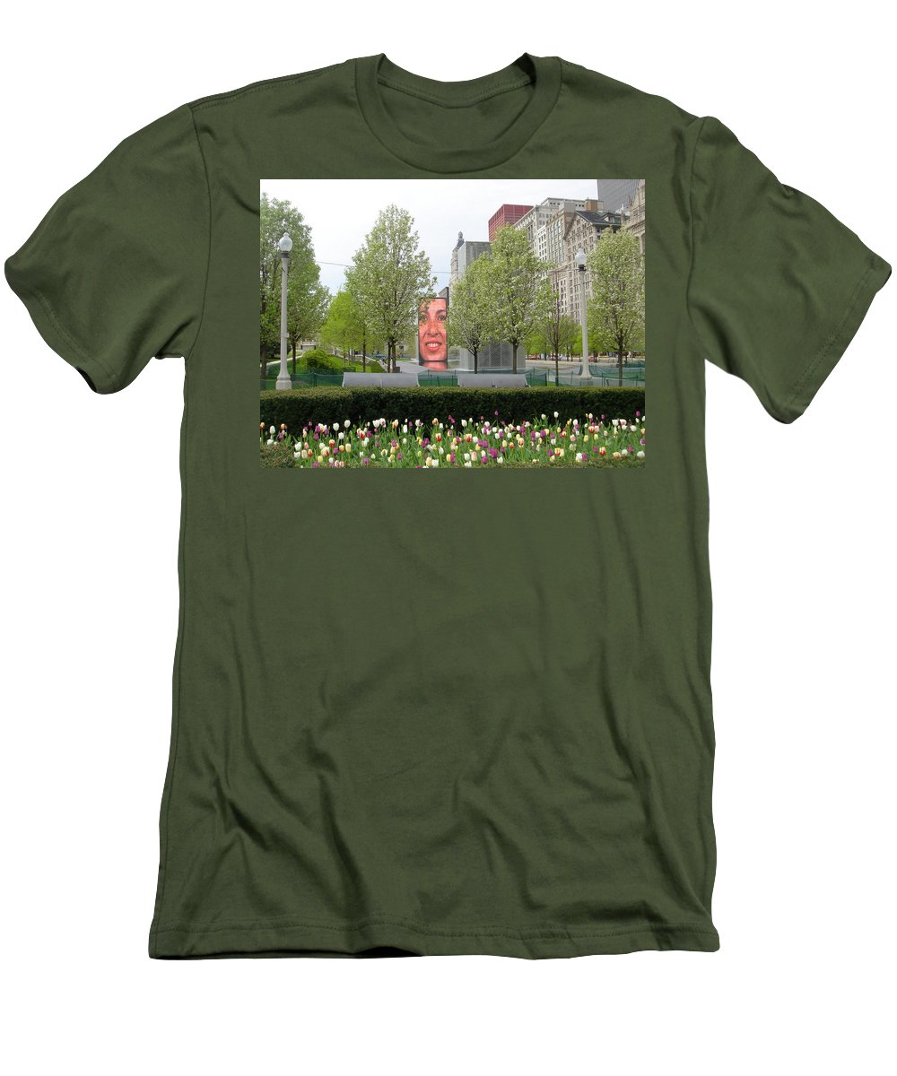 Chicago Men's T-Shirt (Athletic Fit) featuring the photograph Chicago by Jean Macaluso