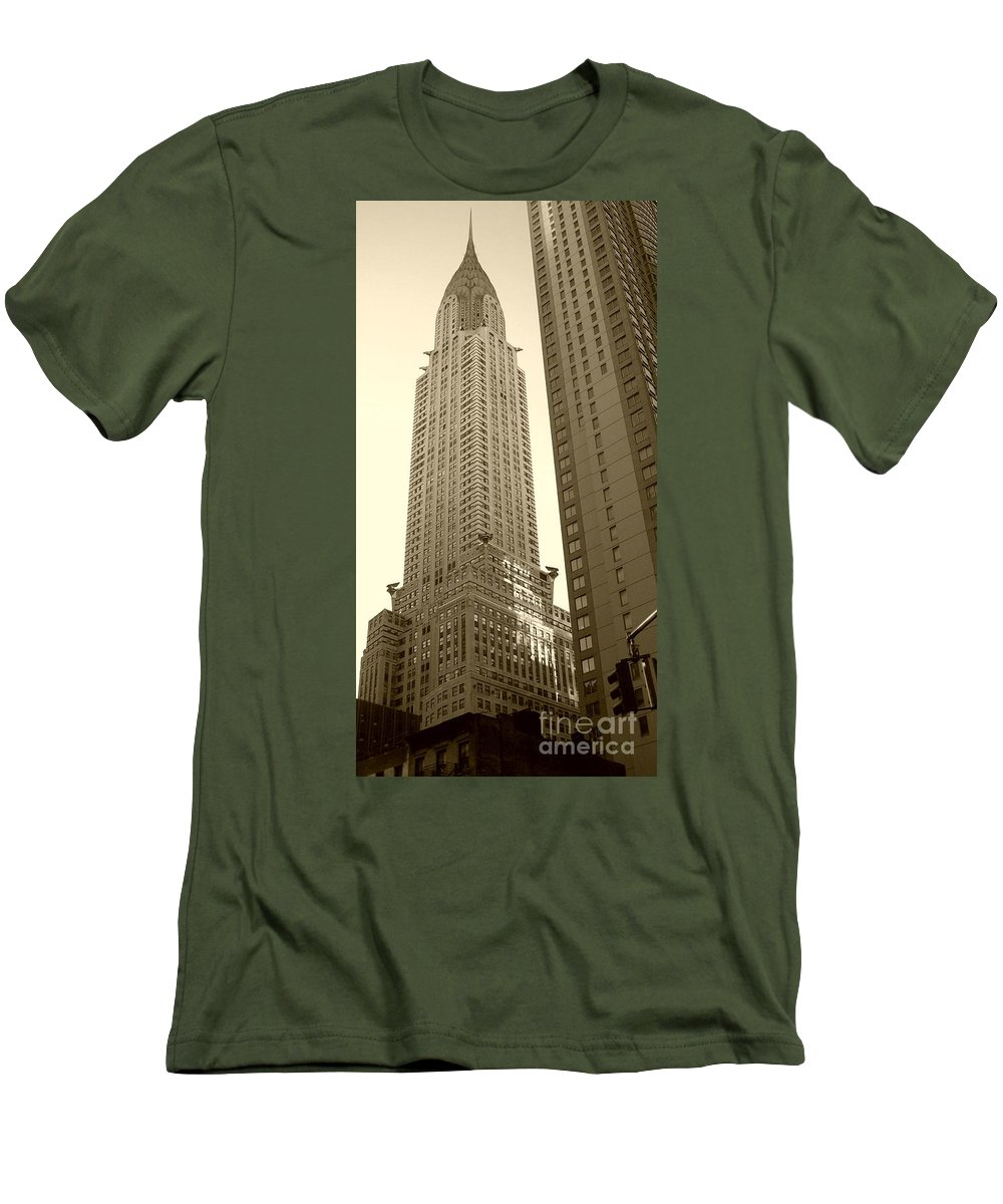 New York Men's T-Shirt (Athletic Fit) featuring the photograph Chrysler Building by Debbi Granruth