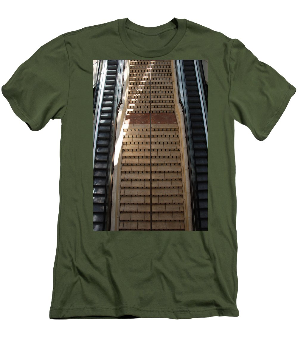 Stairs Men's T-Shirt (Athletic Fit) featuring the photograph City Place Stairs by Rob Hans