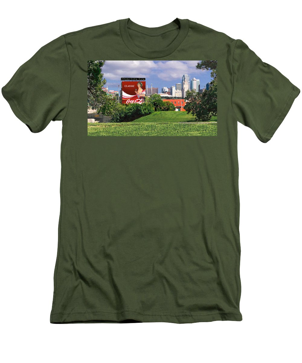 Landscape Men's T-Shirt (Athletic Fit) featuring the photograph Classic Summer by Steve Karol