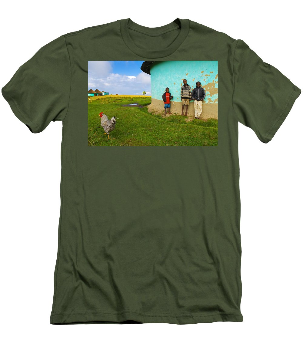 Skip Men's T-Shirt (Athletic Fit) featuring the photograph Cocky by Skip Hunt