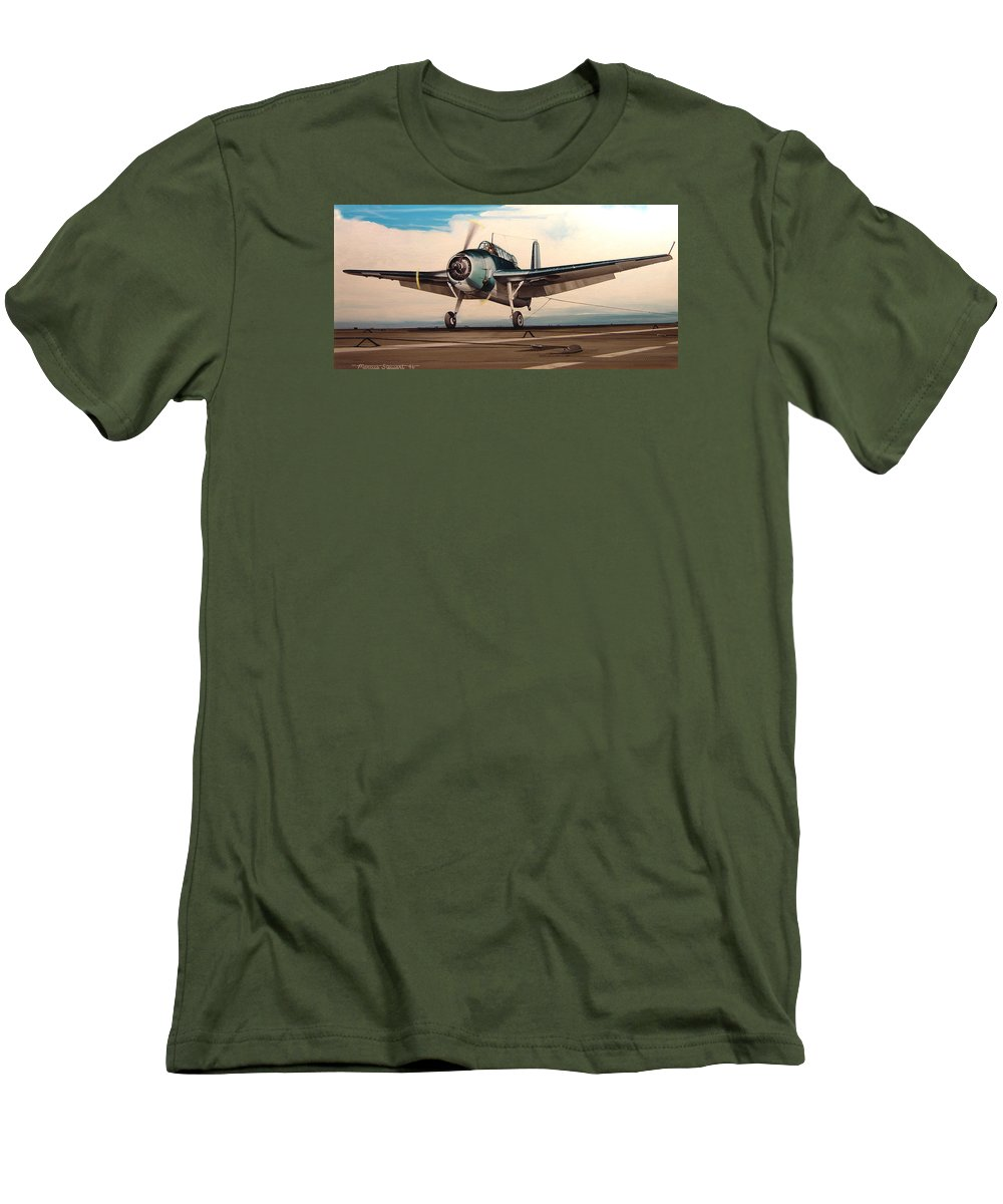 Painting Men's T-Shirt (Athletic Fit) featuring the painting Coming Aboard by Marc Stewart