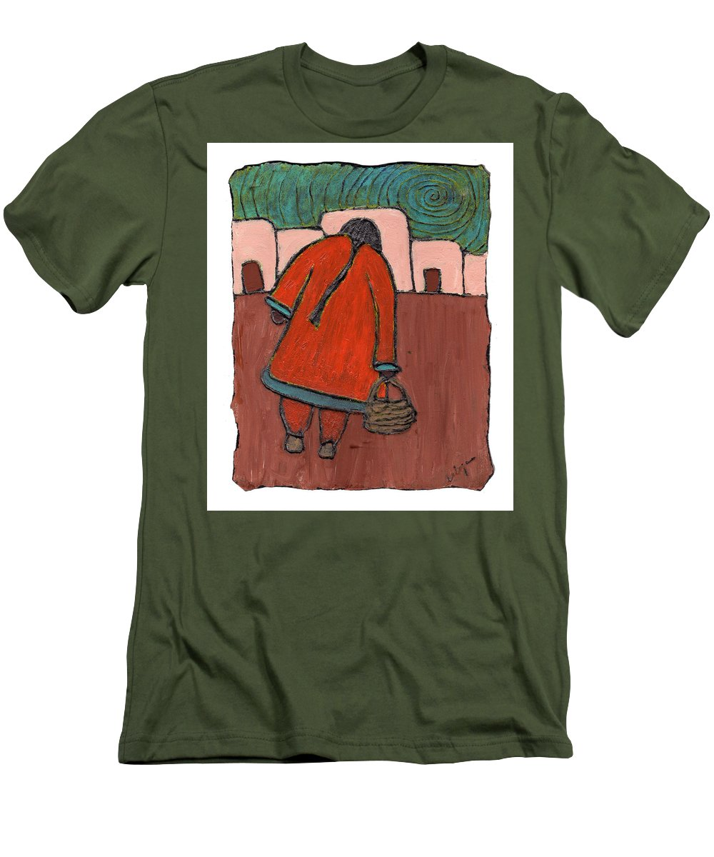 Southwest Men's T-Shirt (Athletic Fit) featuring the painting Coming Home by Wayne Potrafka