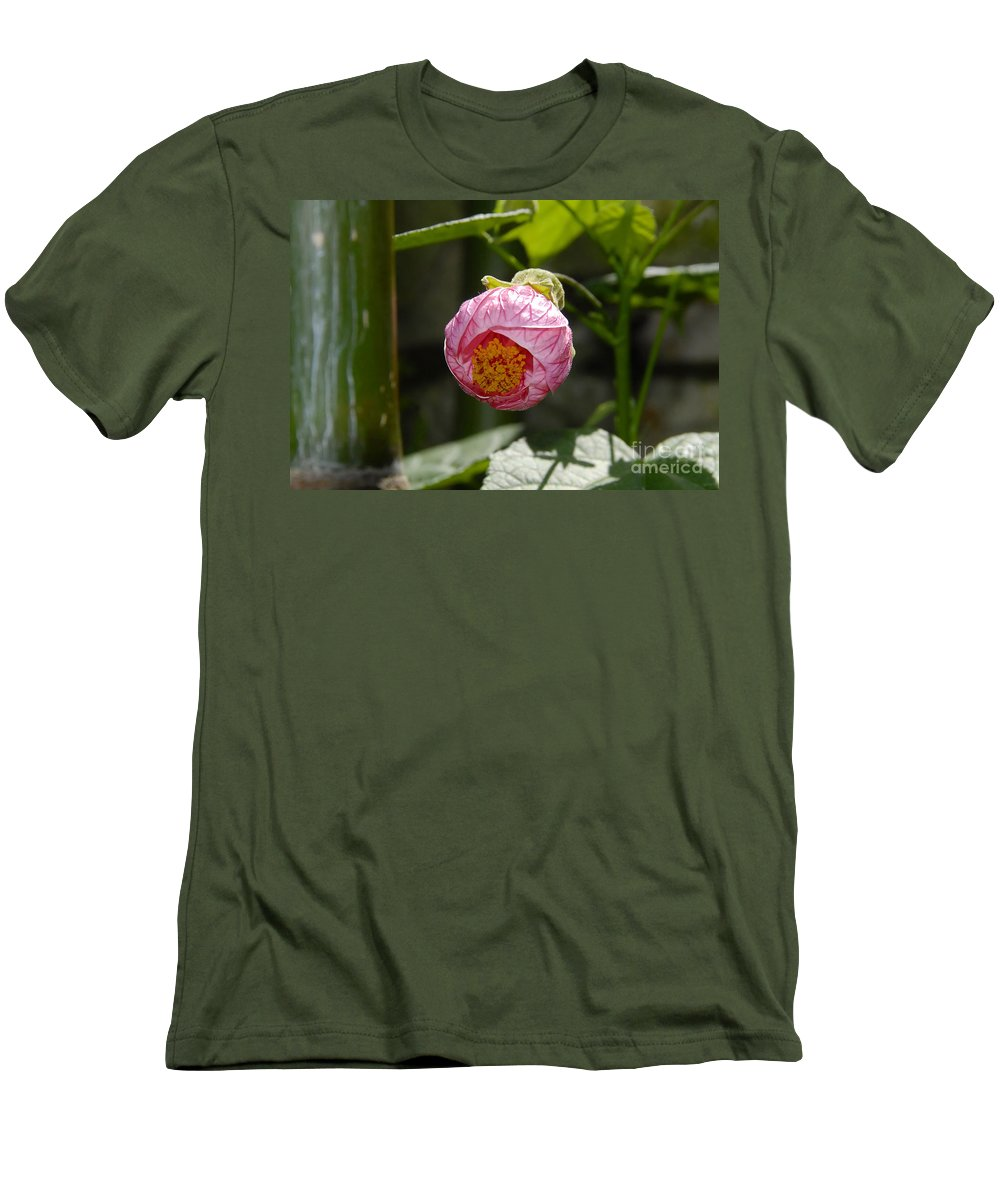 Flower Men's T-Shirt (Athletic Fit) featuring the photograph Coming Out by David Lee Thompson