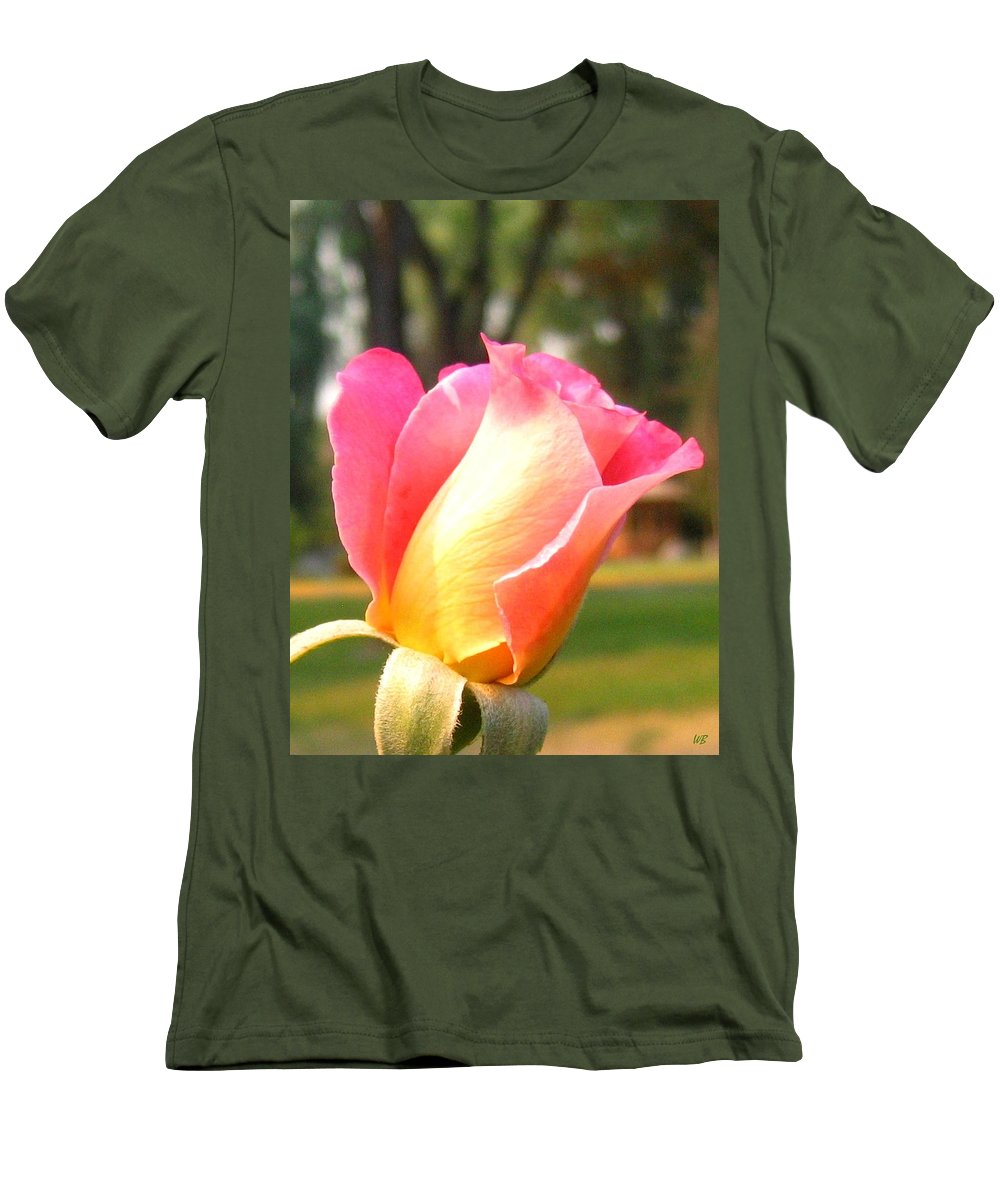 Rose Men's T-Shirt (Athletic Fit) featuring the photograph Country Rose by Will Borden