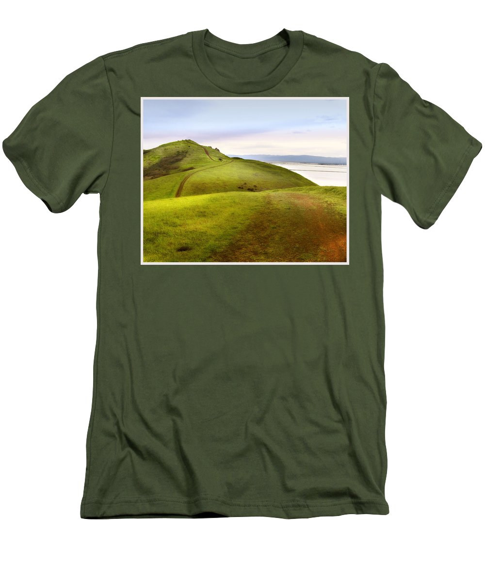 Landscape Men's T-Shirt (Athletic Fit) featuring the photograph Coyote Hills by Karen W Meyer