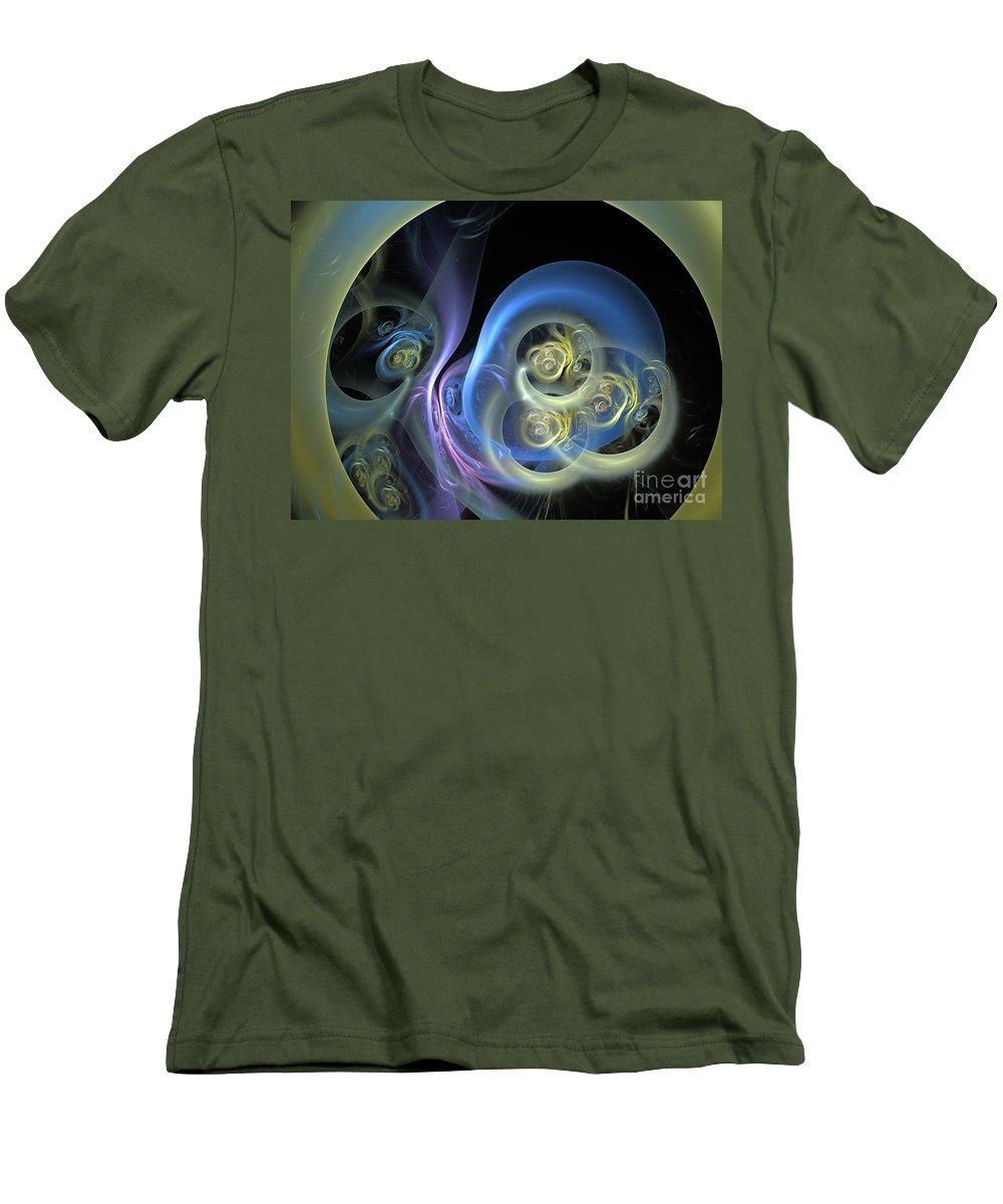 Apophysis Men's T-Shirt (Athletic Fit) featuring the digital art Creatures From Beneath by Deborah Benoit