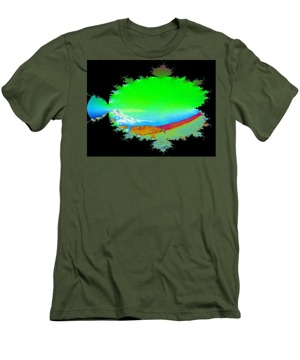 Washington Men's T-Shirt (Athletic Fit) featuring the digital art Da Mountain Sail In Fractal by Tim Allen