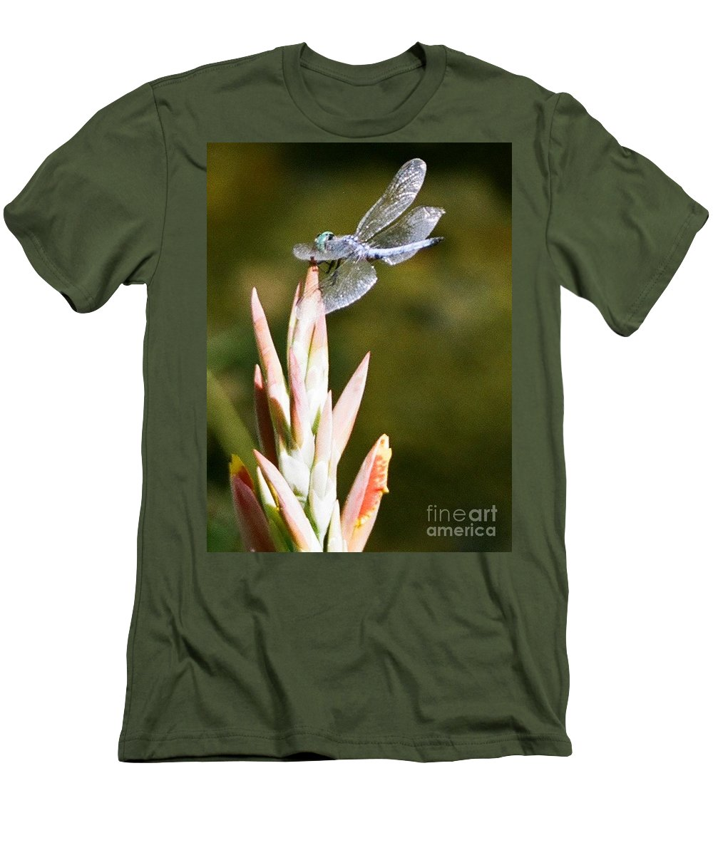 Dragonfly Men's T-Shirt (Athletic Fit) featuring the photograph Damselfly by Dean Triolo