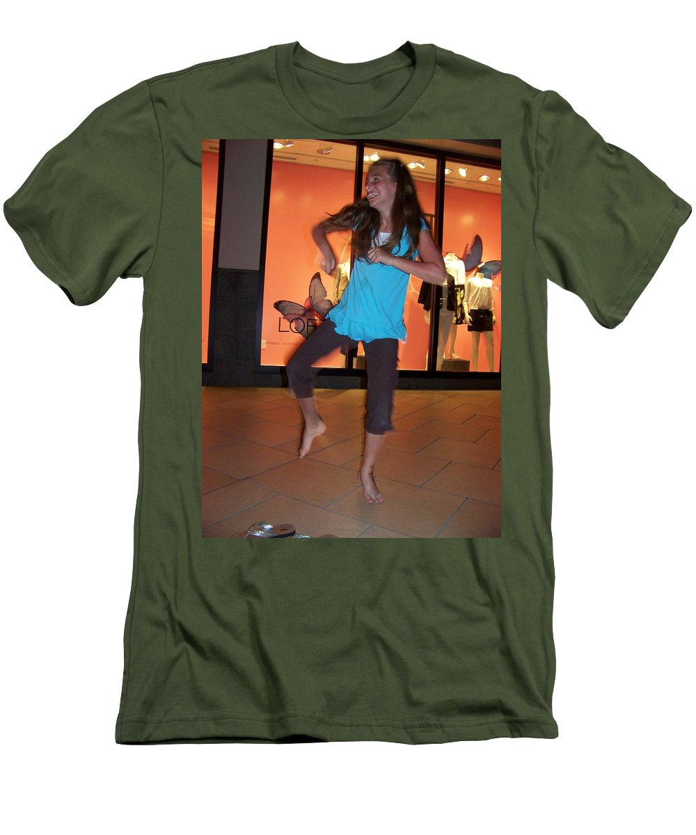 Girl Men's T-Shirt (Athletic Fit) featuring the photograph Dancing Young Girl by Laurie Paci