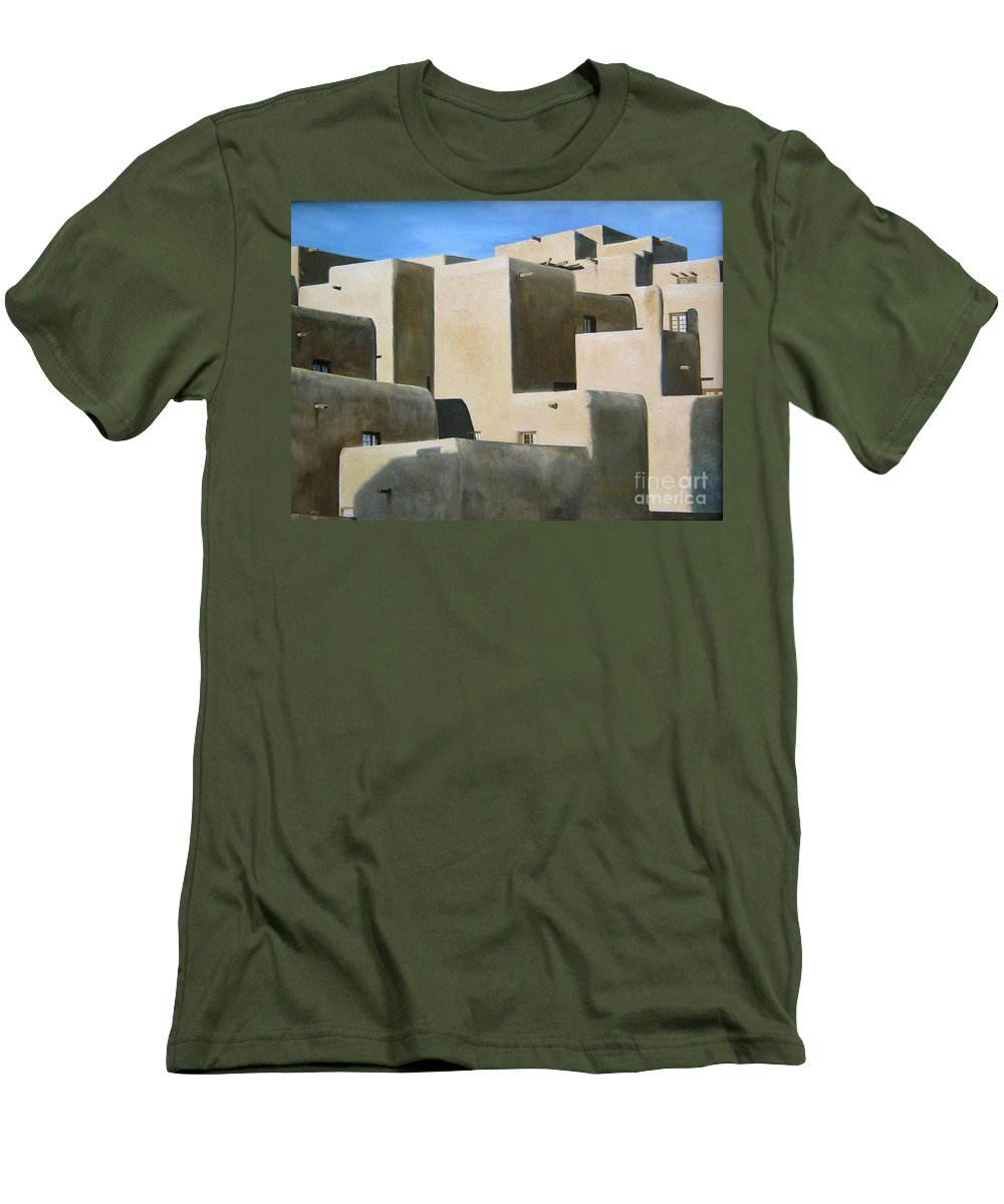 Art Men's T-Shirt (Athletic Fit) featuring the painting Dark Shadows by Mary Rogers