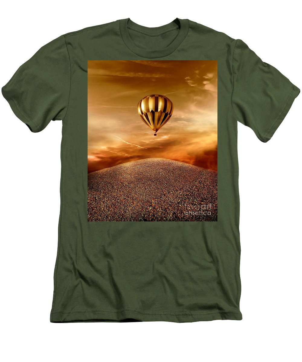 Golden Men's T-Shirt (Athletic Fit) featuring the photograph Dream by Jacky Gerritsen