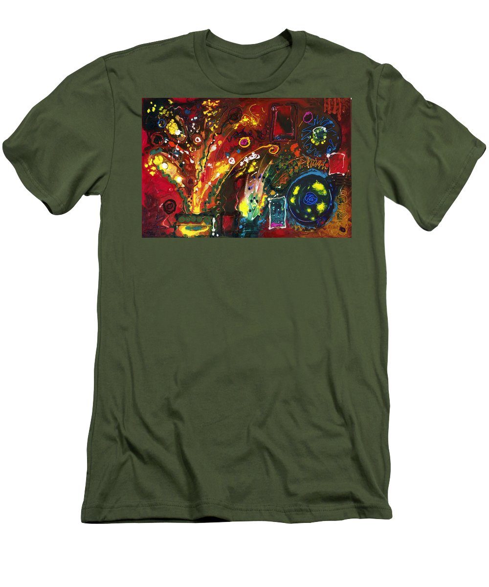 Floral Men's T-Shirt (Athletic Fit) featuring the painting Early Bouquet by Sally Trace