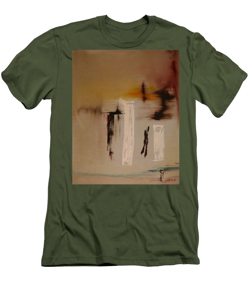 Abstract Men's T-Shirt (Athletic Fit) featuring the painting Easy by Jack Diamond