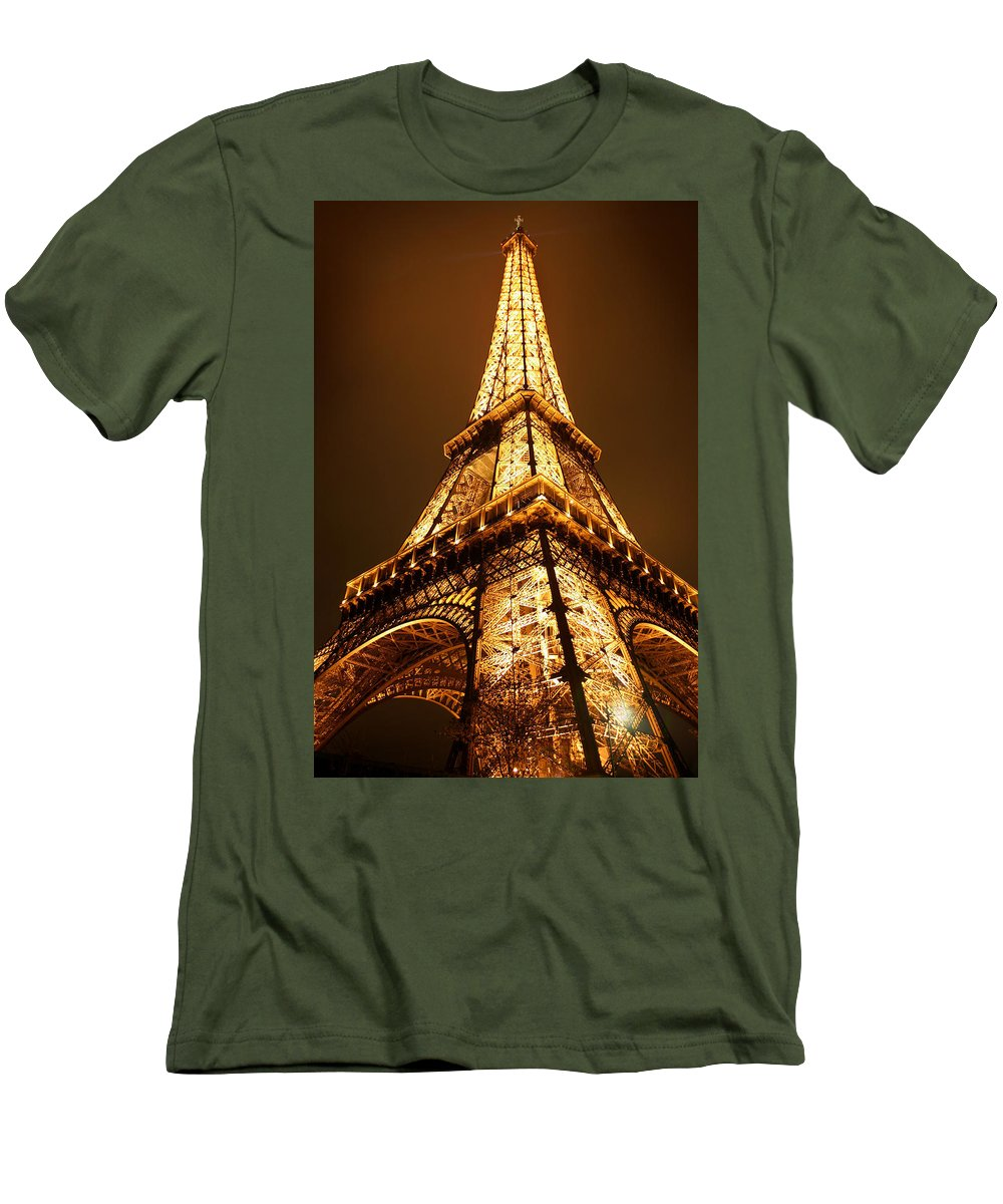 Eiffel Men's T-Shirt (Athletic Fit) featuring the photograph Eiffel by Skip Hunt
