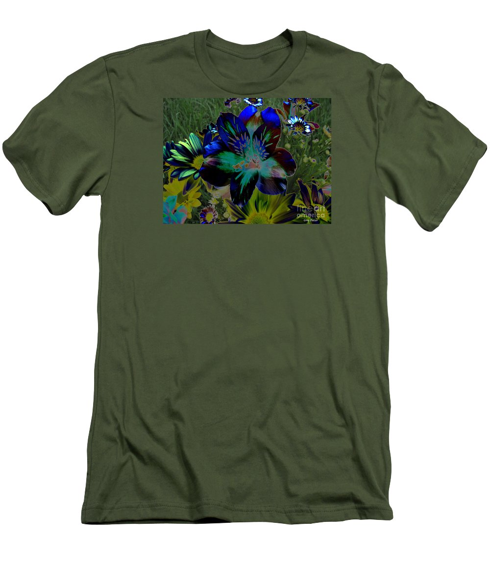 Art For The Wall...patzer Photography Men's T-Shirt (Athletic Fit) featuring the photograph Electric Lily by Greg Patzer